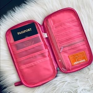 P Travel by Peboz travel wallet. Holds 4 passports